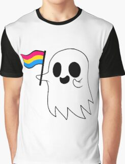 Pansexual Pride Ghost Graphic T-Shirt