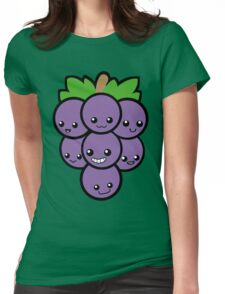 Fruit of the Vine: Purple Grapes Womens Fitted T-Shirt