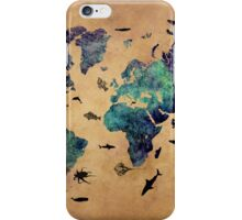 Map of the world atlas iPhone Case/Skin