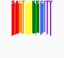 Salt Lake City Utah Gay Pride Rainbow Skyline Unisex T-Shirt