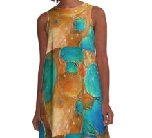 Welcome to my World - Painting Deb Breton A-Line Dress