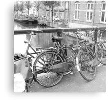Bicycles Amsterdam Metal Print