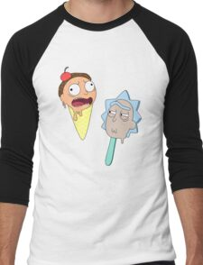 Ice cream Rick and Morty Men's Baseball ¾ T-Shirt