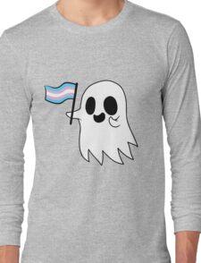 Trans Pride Ghost Long Sleeve T-Shirt