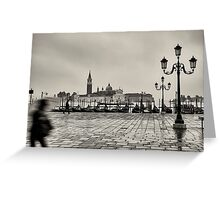 Rain in Venice - Venice, Italy Greeting Card