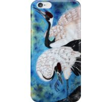Crane snuggle iPhone Case/Skin