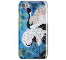Crane snuggle iPhone Case/Skin