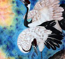 Crane snuggle by Rosalind Clarke