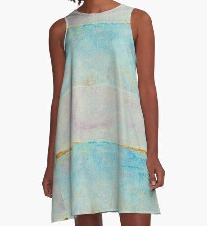 QUIET COVE Bodega California Painting A-Line Dress