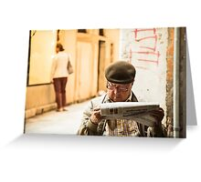 Daily Read - Venice, Italy Greeting Card