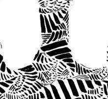 Stripes and Kartoons Sticker
