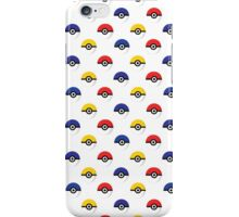 Team Poke Ball Pattern - White iPhone Case/Skin