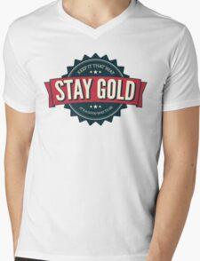 stay gold. Mens V-Neck T-Shirt