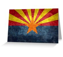 State flag of Arizona, with vintage retro style treatment Greeting Card