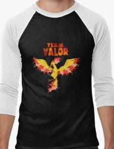 Team Valor: Pokemon Go! Men's Baseball ¾ T-Shirt