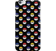 Team Poke Ball Pattern - Black iPhone Case/Skin