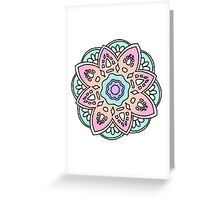 mandala flower deign Greeting Card