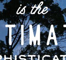 Simplicity Quote Sticker