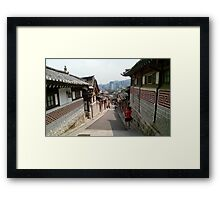 Korean Bukchon Hanok Village Framed Print