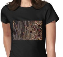 Alien Plantlife - Peculiar Succulent Plants With Beautiful Maroon Rosettes Womens Fitted T-Shirt