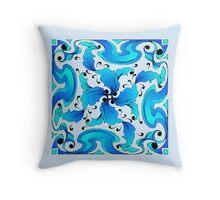 Blue Fancy Throw Pillow