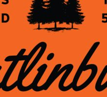 GATLINBURG TENNESSEE MOUNTAIN GREAT SMOKEY MOUNTAINS TYPOGRAPHY ORANGE Sticker