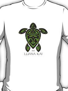Black & Green Tribal Turtle Tattoo / Luana Kai T-Shirt