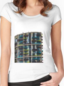 London architecture Women's Fitted Scoop T-Shirt