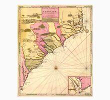 Vintage Map of The Carolinas (1683) Unisex T-Shirt