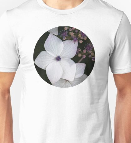 Purple and Blue Hydrangea  Unisex T-Shirt