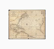 Vintage Map of The Atlantic Ocean (1683) Unisex T-Shirt