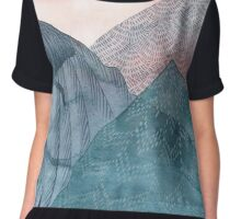 O'er The Wild Mountains - Portrait  Chiffon Top