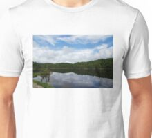 Calm Lake, Turbulent Sky Unisex T-Shirt