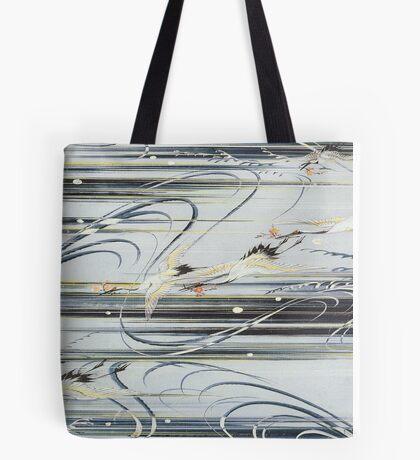Diving Cranes  Tote Bag