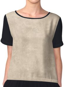 Frosted Almond Oil Pastel Color Accent Chiffon Top