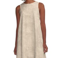 Frosted Almond Oil Pastel Color Accent A-Line Dress