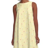 Pale Flowers A-Line Dress