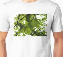 Green Summer Rain with Grape Leaves Unisex T-Shirt