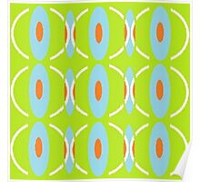 Retro Pattern Green Poster