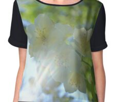 fresh jasmine flowers Chiffon Top
