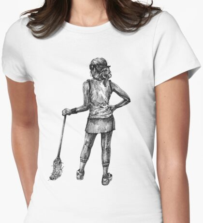 Lax Girl Womens Fitted T-Shirt