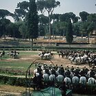 Parade Rehearsal Borghese Gardens Rome Italy 19840724 0002M  by Fred Mitchell