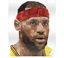LEBRON JAMES GRAPHIC ART PORTRAIT Poster