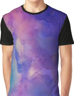Purple and Pink Watercolor Graphic T-Shirt