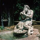 Water God Borghese Gardens Rome Italy 19840724 0004  by Fred Mitchell