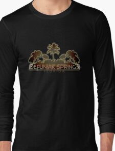 Defuniak Springs Florida palm tree words Long Sleeve T-Shirt