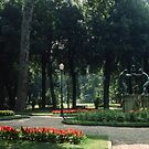 Statuary Borghese Gardens Rome Italy 19840724 0006M by Fred Mitchell