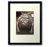 Silver Bulldog Framed Print