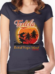 Tortola Caribbean Sea Women's Fitted Scoop T-Shirt