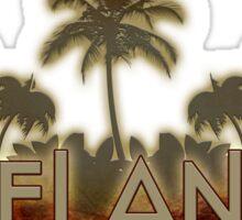 Deland Florida palm tree words Sticker